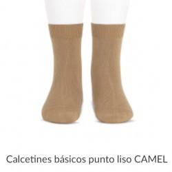 Calcetín liso media caña en color camel 326 CONDOR