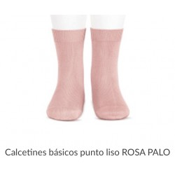 Calcetín liso media caña en color rosa palo 526 CONDOR